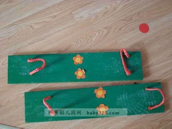 自制体育玩教具图片; 幼儿园大班户外教具