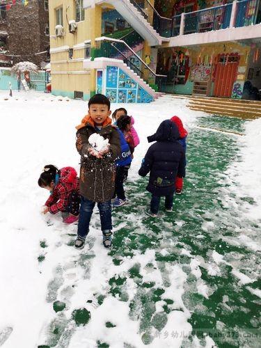 白色的雪娃娃:新乡新机幼儿园